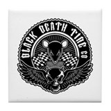 Black Death Tire Co Tile Coaster