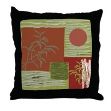 Asian Fabric Throw Pillow