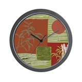 Asian Fabric Wall Clock