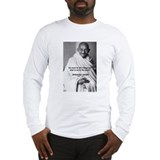 Loyalty to Cause: Gandhi Long Sleeve T-Shirt
