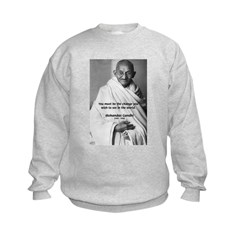 Loyalty to Cause: Gandhi Kids Sweatshirt