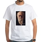 Charles Darwin: Evolution White T-Shirt