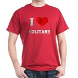 I Love Solitare Black T-Shirt