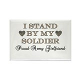 Stand By My Soldier Rectangle Magnet