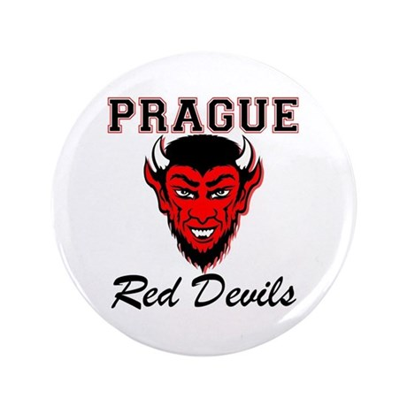"Prague Red Devils 3.5"" Button"