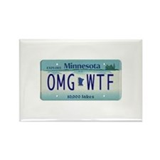 Funny Funny minnesota Rectangle Magnet