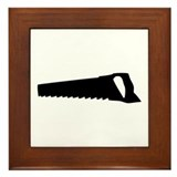 black saw Framed Tile