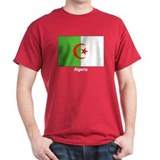 Algeria Flag (Front) Black T-Shirt
