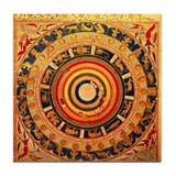 Celestial Map Tile Coaster