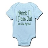 I Drink Til I Pass Out Onesie