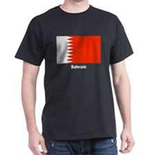 Bahrain Flag (Front) Black T-Shirt
