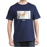 Cyprus Cypriot Flag (Front) Black T-Shirt