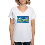 Comfort Zone Women's V-Neck T-Shirt