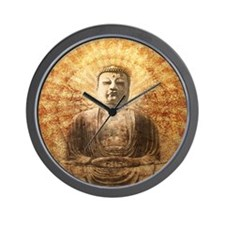 Meditating buddha Wall Clock