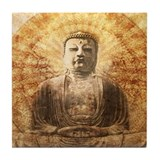 Cute Meditation art Tile Coaster