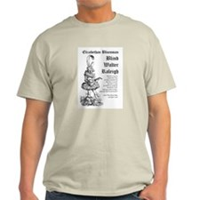 """Bluesman"" Blind Walter Raleigh Ash Grey T-Shirt"