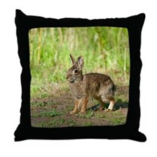 Desert Cottontail Throw Pillow