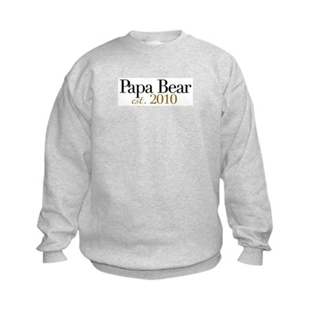 New Papa Bear 2010 Kids Sweatshirt