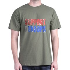Support Our Troops - Aged Dark T-Shirt