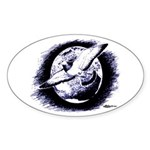 Earth Homer Pigeon Oval Sticker