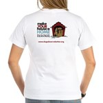 A Dog House is NOT A Home Women's V-Neck T-Shirt