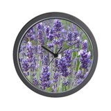Wall Clock - featuring calming lavender