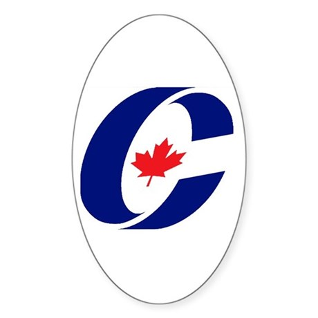 Conservative Party Oval Sticker