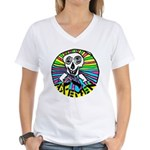 AXEMEN Skull & Axes Women's V-Neck T-Shirt
