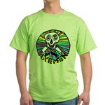 AXEMEN Skull & Axes Green T-Shirt