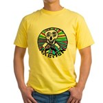 AXEMEN Skull & Axes Yellow T-Shirt