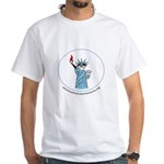 Lady Liberty White T-Shirt