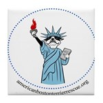 Lady Liberty Tile Coaster