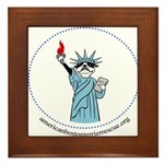 Lady Liberty Framed Tile
