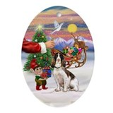 Santa's Treat - English Springer Oval Ornament