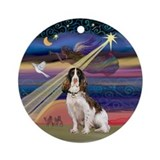 Christmas Star &amp; English Springer Ornament (Round)