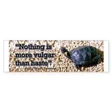 Turtle: Vulgar Haste Bumper Sticker (10 pk)