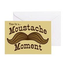 Time For A Moustache Moment Greeting Card