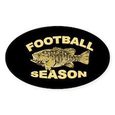 FOOTBALL SEASON - Oval Decal