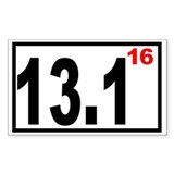 Half Marathon 16 Rectangle Decal