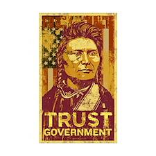 Chief Joseph Trust Government Rectangle Sticker 5