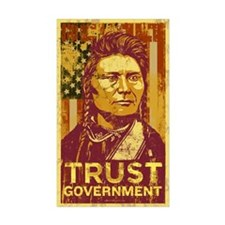 Chief Joseph Trust Government Rectangle Sticker 1