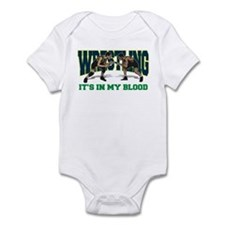 Wrestling It's In My Blood Infant Bodysuit