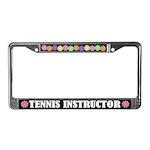 Tennis Instructor License Plate Frame