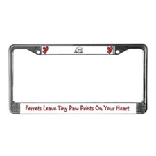 Ferrets Leave Tiny Paw Prints License Plate Frame