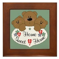 Home Sweet Home Teddies Framed Tile
