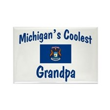 Coolest Michigan Grandpa Rectangle Magnet