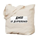 Amir is Superdad Tote Bag