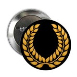 "Black with Gold laurel 2.25"" Button (100 pack)"