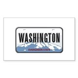 Washington Rectangle Decal