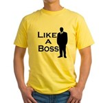 Like a Boss Yellow T-Shirt